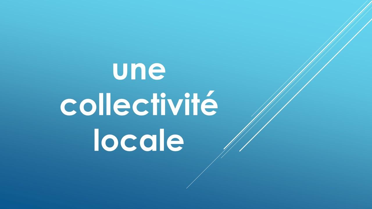 vous êtes une collectivité locale